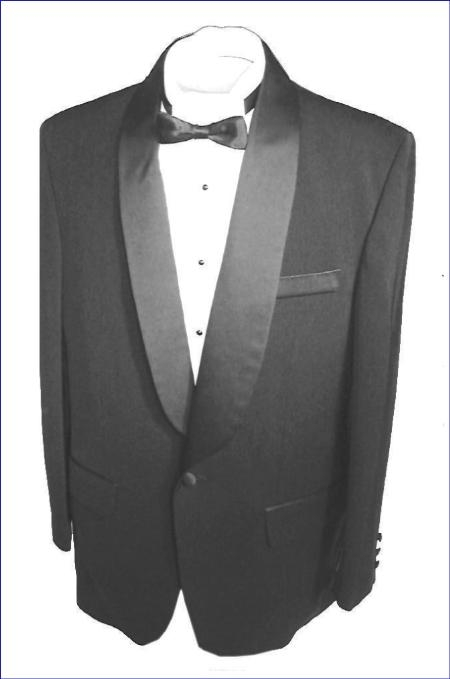 Product# SH712 Liquid Jet Black single button, shawl collar formal tux Jacket and pants with besom pocket
