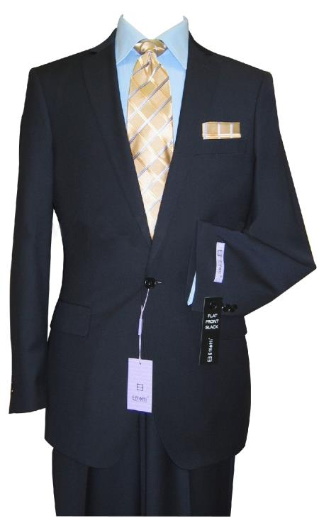 Mens Single Button Navy Suit