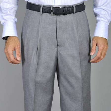 Light Grey Single Pleat
