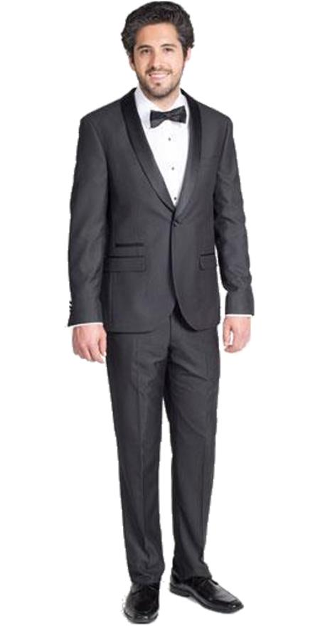 Men's Single Breasted Black Slim Fit Tuxedo with Shawl Lapel Clearance Sale Online