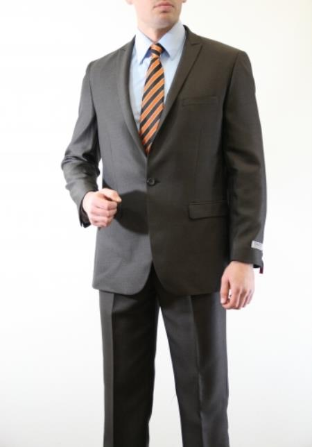 Product# AC-218 Two Piece Slim narrow Style Fit Suit brown color shade Clearance Sale Online