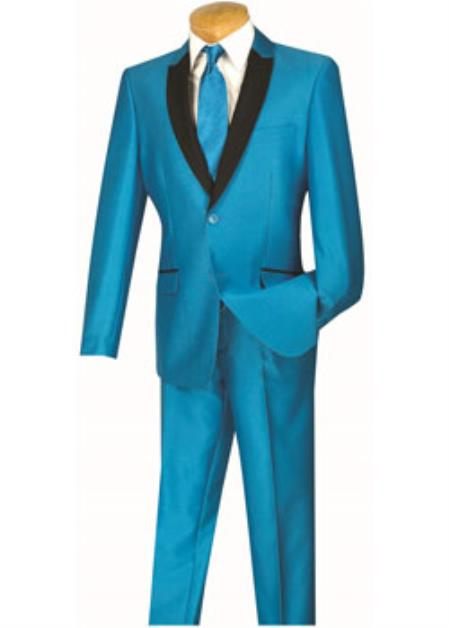 Mens Slim Turquoise and