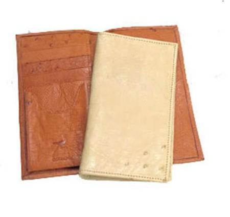 Ferrini Smooth Ostrich Checkbook