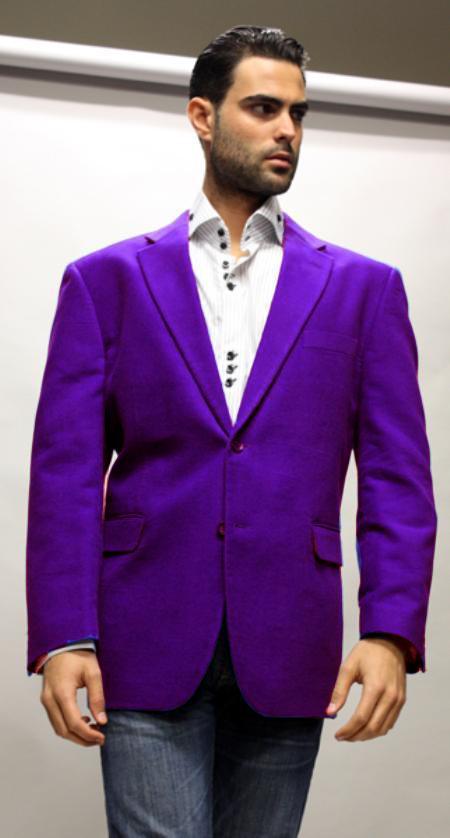 Dark Purple color shade Superior Fabric 150's Velvet Fabric Sport Coat