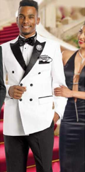Double Breasted Tuxedo Double Breasted White Blazer / Sportcoat Jacket