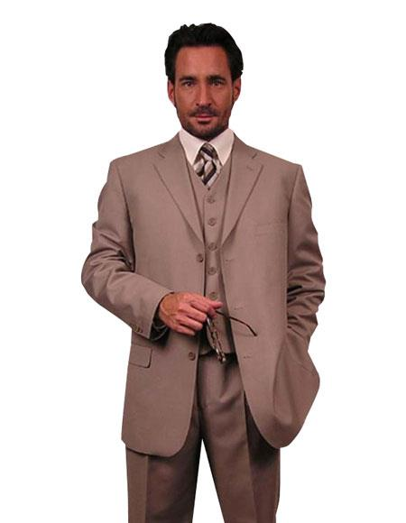 Superior Fabric 110's Extra Fine Premier Quality Italian Fabric Wool Fabric Feel Poly~Rayon 3PC Vested three piece suit