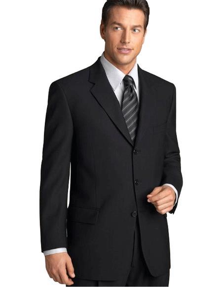 Liquid Solid Jet Liquid Jet Black Suits for Online Superior Fabric 150's premier quality italian fabric Suit Side Vented