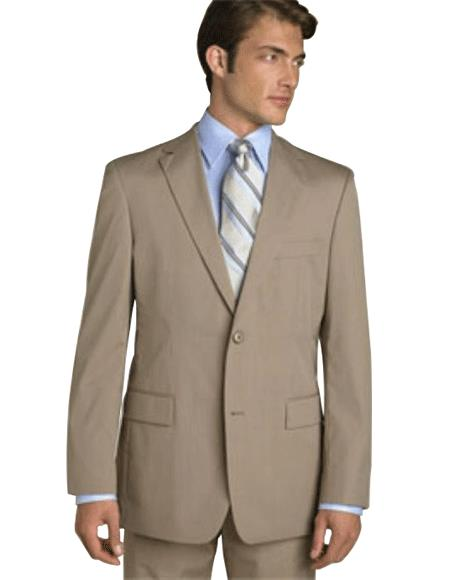 Classic Business Tan ~ Beige~Sand~Mocca 2 Button Suit