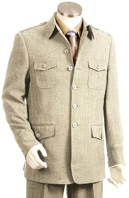 TU9024 High Fashion Taupe Long length Zoot Suit