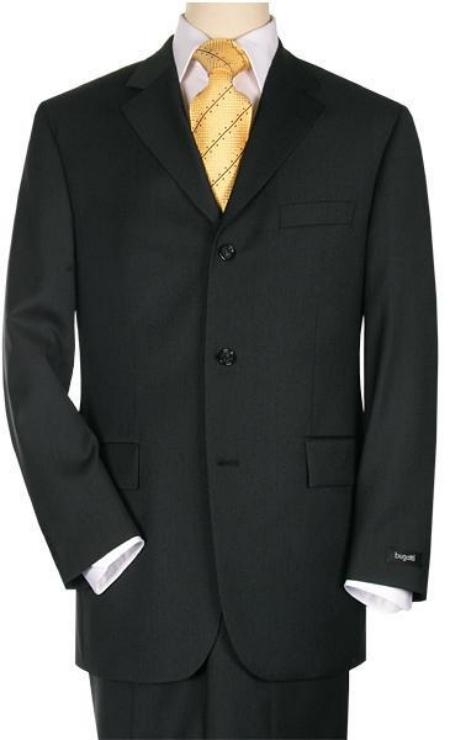 Product# 3BS03 3 Buttons Style Suit Jet Liquid Jet Black premier quality italian fabric Superior Fabric 150's Wool Fabric