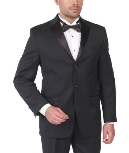 Product# PN-37 Lauren By Ralph Lauren Wool Fabric Tuxedo Three Button with Double Pleat