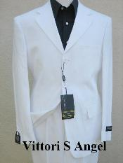 IHY926 premier quality italian fabric Vittori Angel WHITE SUIT