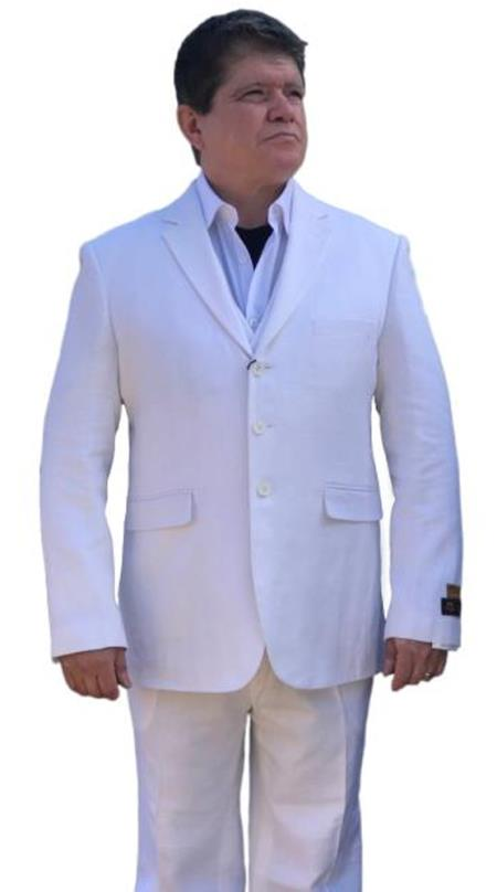 Product# SM4437 Alberto Nardoni Best Mens Italian Suit ( Jacket and Pants)  For Men Brands Men's 2 Piece Linen Causal Outfits Summer Fabric Side Vented (Buy 10PC and UP for $120) / Beach Wedding Attire For Groom