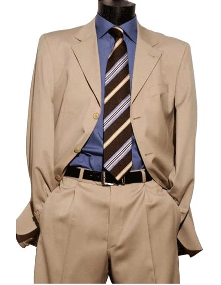 Light Beige premier quality italian fabric Superior Fabric 150 Wool Fabric Dress Suit $199 Compare at