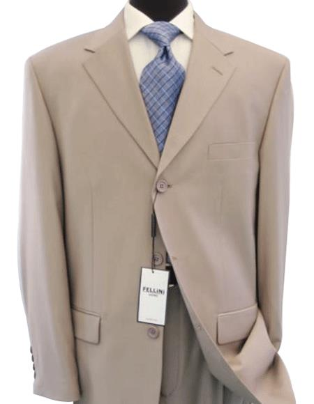 Beige/Tan khaki Color ~ Beige Business premier quality italian fabric 100% Worsted Wool Fabric Higher Quality Suits for Online