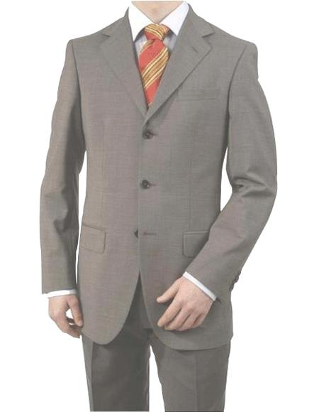 Mid Gray 3 Button Style Real premier quality italian fabric Superior Fabric 150's Wool Fabric Italian Suits for Online