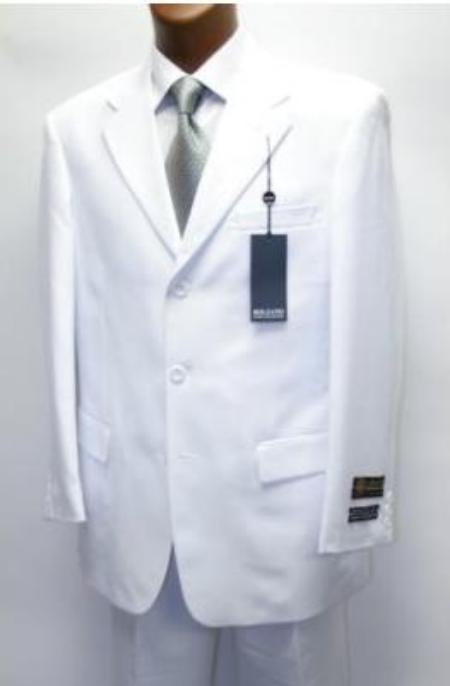 Product# XXA948 Cheap Quality No lining 3 Button Stylel White Suit