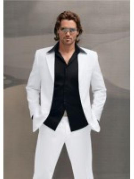 Product# HU6525 High End Italian Made Superior Fabric 150's Wool Fabric Suit White