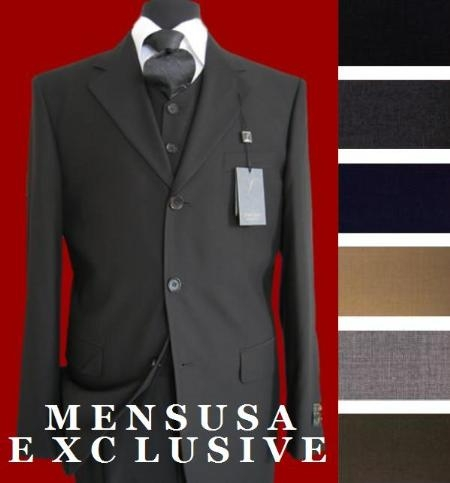 3 Button Style Vested