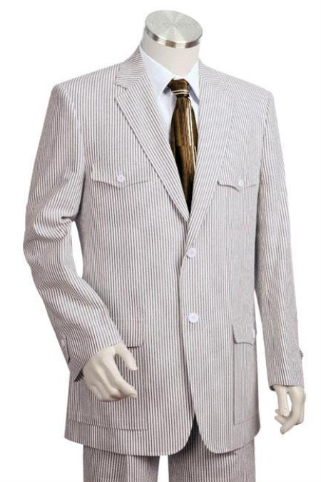 Sear Sucker Suit Fashion Summer Cheap priced men's Seersucker Suit Sale Fabric Suit in Soft 100% Cotton Blue