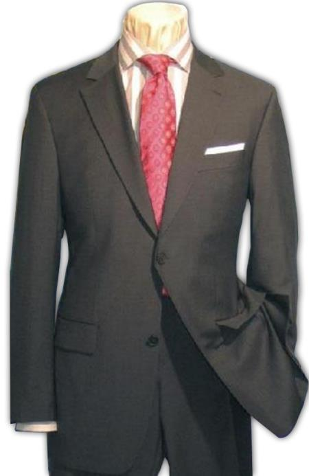 2 Button Style Dark Grey Masculine color Gray Superior Fabric 150's Wool Fabric Dress Suit