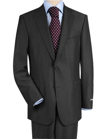 High-quality construction Two-Button Darkest Dark Grey Masculine color Gray Superior Fabric 150 fine Wool Fabric