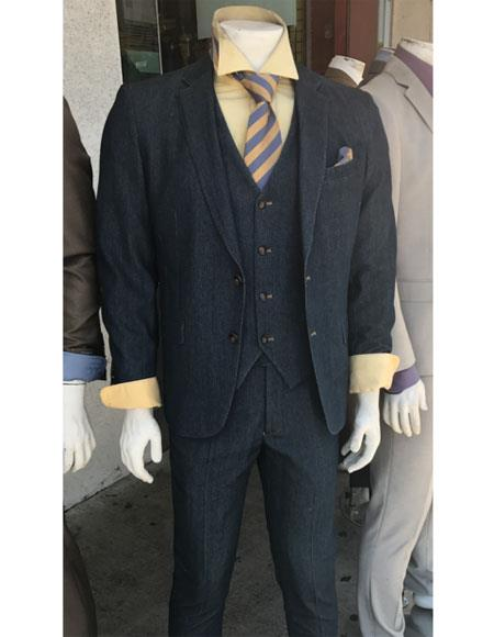Denim 2 Button Suit
