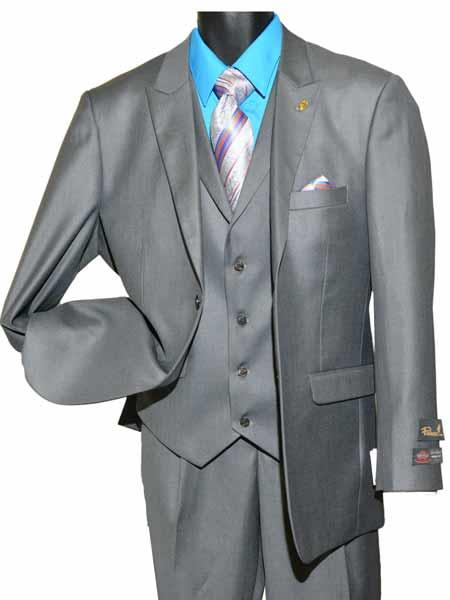 Mens Gray Two Button