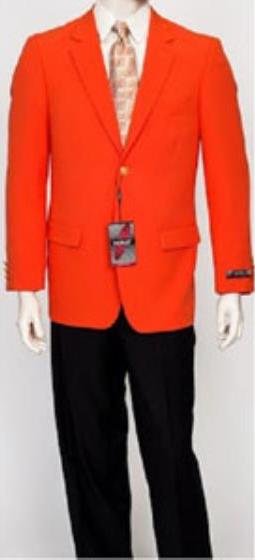 Men's Pacelli Classic Orange Blazer Jacket Blair