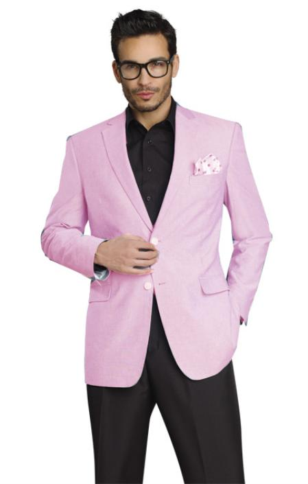 Stylish Two Button Jacket Light Pink
