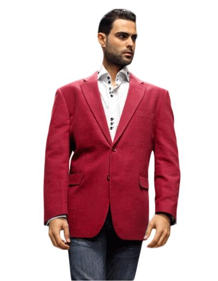 Product# KA1274 Sport Coat It's One of a Kind Superior Fabric 150's For All Occasion Winish Burgundy ~ Maroon ~ Wine Color Maroon Velvet