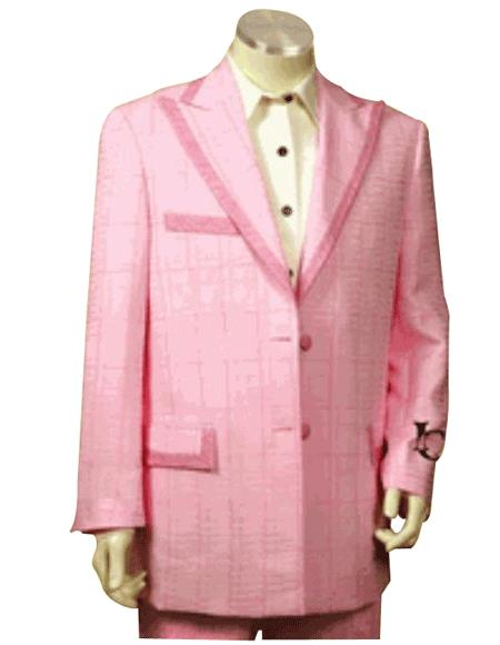 Product# HD737 Fashion Light Pink Tuxedo For sale ~ Pachuco Mens Suit Perfect for Wedding or 1920s tuxedo style 2 Buttons Style With Peak Lapel Trimmed