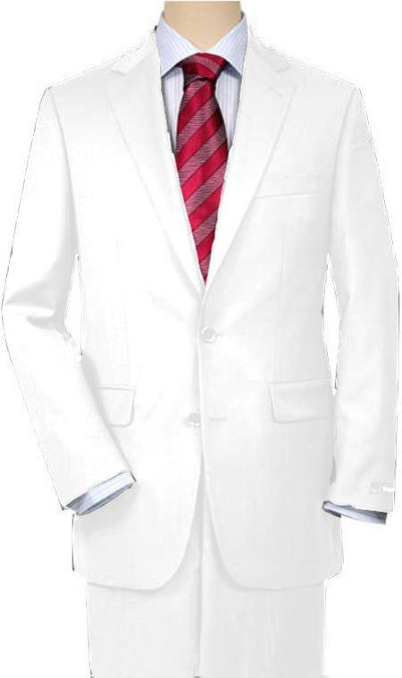 White Quality Suit Separates, Total Comfort Any Size Jacket & Any Size Pants