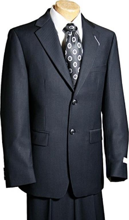 2 Button Style Liquid Jet Black Tone/Tone Boy Designer Suits For Teenagers