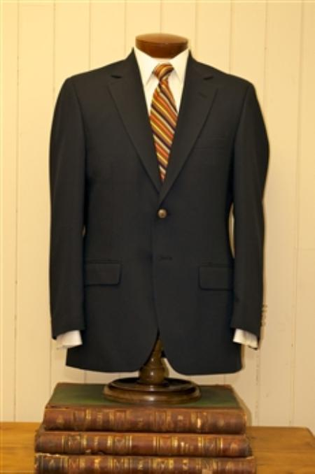 2 Button Style Big and Tall Size Blazer Online Sale 56 to 80 Wool Fabric Suit Liquid Jet Black