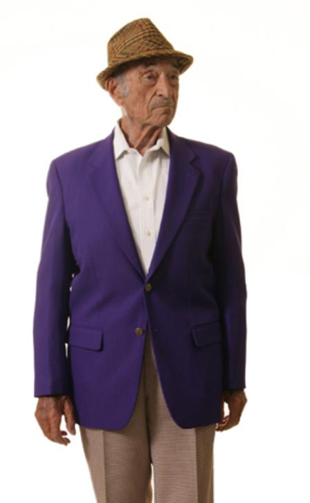 Single Breasted 2 Button Style Solid Purple color shade Blazer Online Sale