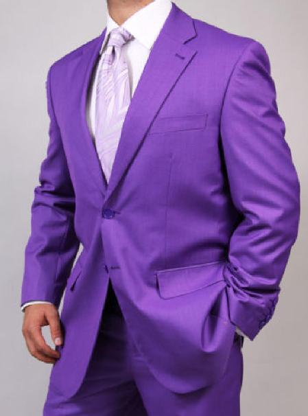 Two Button Purple color