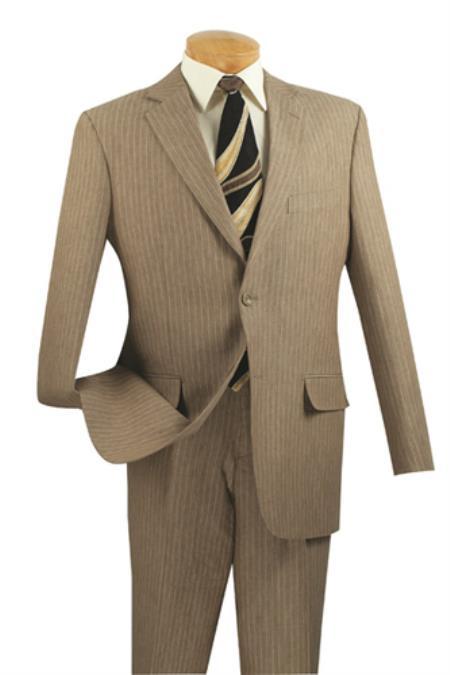 2 Button Style Suits for Online Tan khaki Color ~ Beige