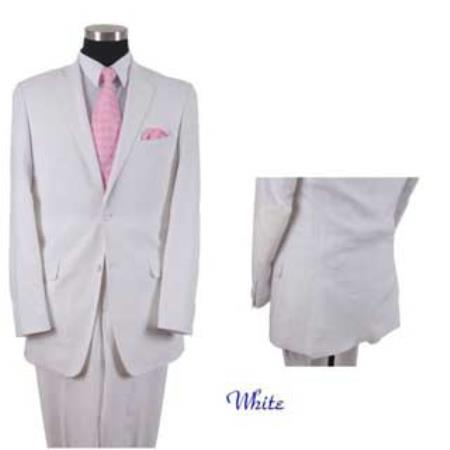 Product# AA557 Linen Summer Suit or Blazer Online Sale or Sportcoat 2 Button Style With Elbow Patch sleeve White
