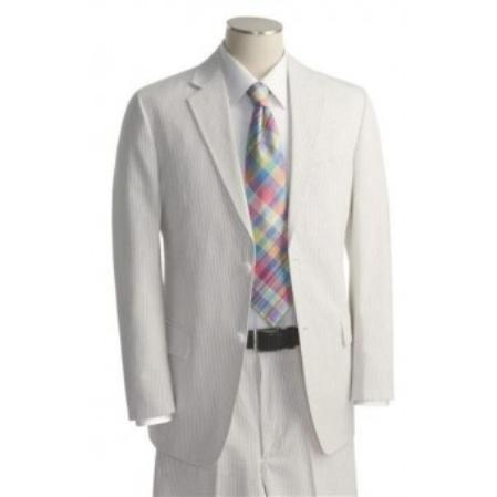 YH6355 2 Button Style White Tone on Tone Suit