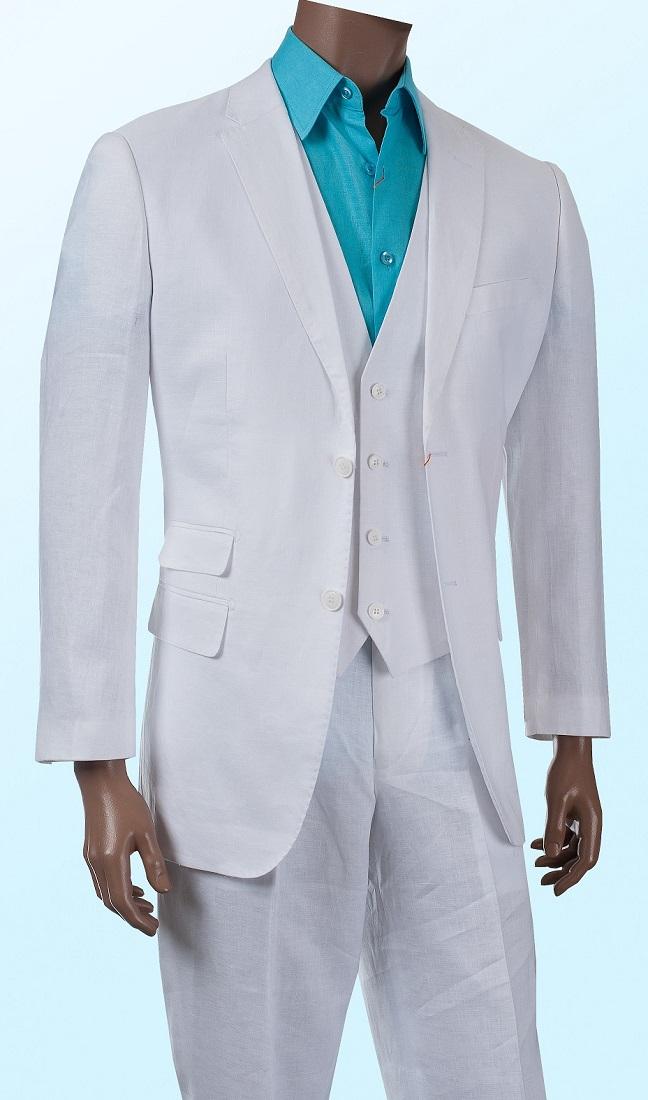 3pc Linen Suit Ticket