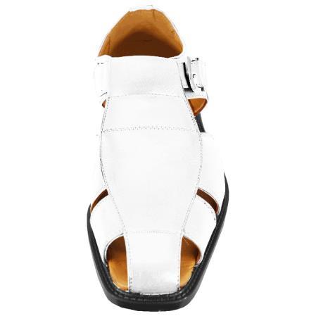 Product# JSM-3295 Men's White Sandal