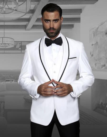 Mens Genova White Fashion