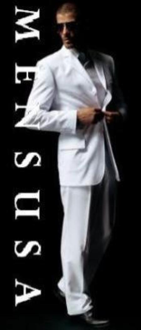 100% Polyster White Suit