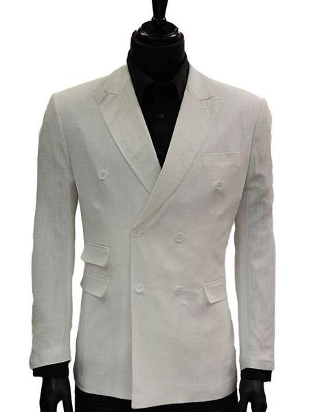 Mens Lanzino White Double