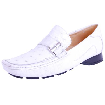 Genuine Ostrich loafer slip