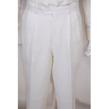 Dress Pants Solid White