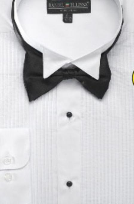 Product# EF123 Wing Tip Tuxedo Shirt with Bow Tie