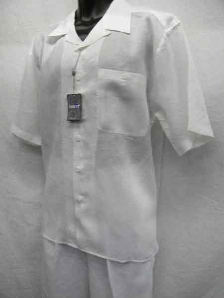 Two Piece White Linen