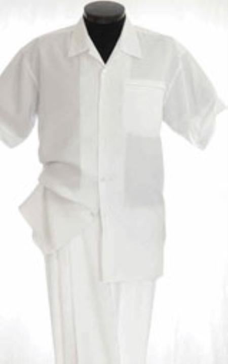 White Leisure Walking Suit